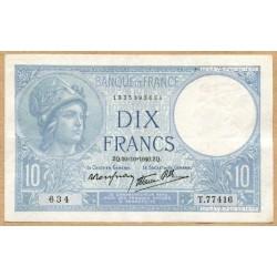 10 Francs Minerve 10-10-1940 T.77416