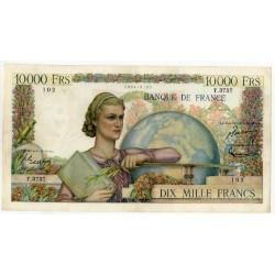 10000 Francs Génie Français 4-12-1952