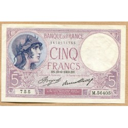 5 Francs Violet 29-6-1933