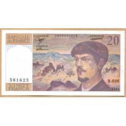 20 Francs Debussy 1989 B 026