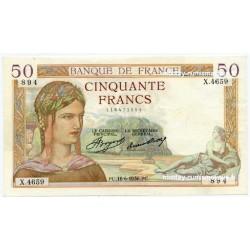50 Francs Cérès 18-6-1936 X.4659