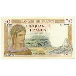 50 Francs Cérès 22-2-1940 K.12608