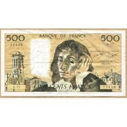 500 Francs Pascal 3-11-1977 A.77