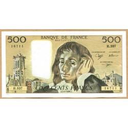 500 Francs Pascal 3-1-1991 H.337