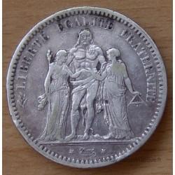 5 Francs Hercule 1872 A Paris