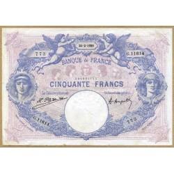 50 Francs bleu et rose 24-2-1925 G 11614