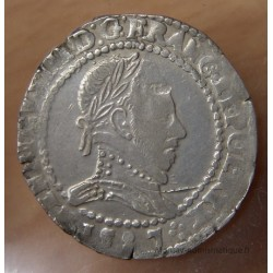 Henri III Demi Franc Col plat 1587 D Lyon