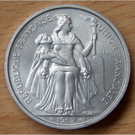 Polynésie-Française 5 Francs 1952 Essai Océanie Française