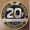 20 Francs Mont Saint-Michel 2001 BE Belle Epreuve