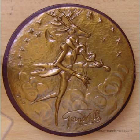 Médaille Animalière du caricaturiste Grandville par Belo
