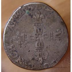 Louis XIII 1/4 écu de Béarn 1618 M Morlaàs