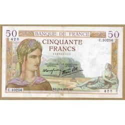 50 Francs Cérès 15-6-1939 U.10256