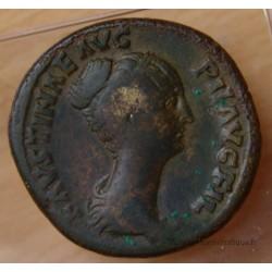 Faustine Jeune Sesterce +148+152 Rome VENUS