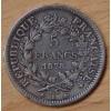 5 Francs Hercule 1878 K Bordeaux