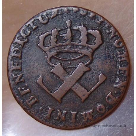 AMÉRIQUE- 9 Deniers 1722 H sur 21 H La Rochelle