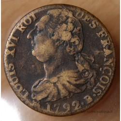 2 Sols François 1792 B Rouen