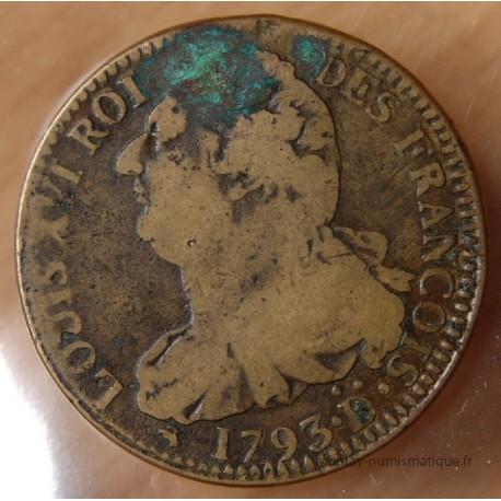 2 Sols François 1793 D Riorges