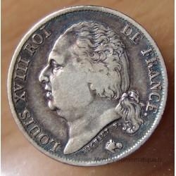 1 Franc Louis XVIII 1822 B Rouen