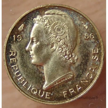 AOF 5 Francs 1956 ESSAI Afrique de l'Ouest
