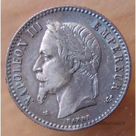 50 CENT. Napoléon III tête laurée 1865 A