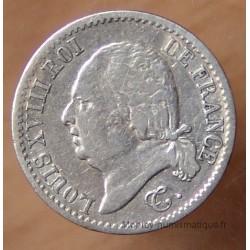 1/4 de Franc Louis XVIII 1820 A Paris
