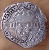 Henri III Quart Ecu croix de face 1580 Nantes