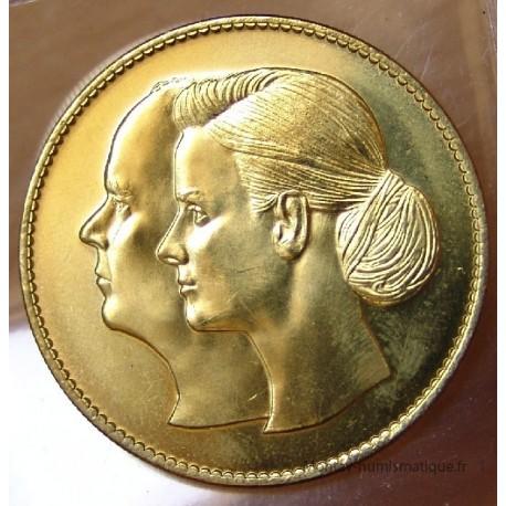 MONACO Médaille du mariage princier Albert II et Charlène 2011