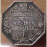 Jeton Notaires Marseille 1833 ( en creux sur tranche 1890)