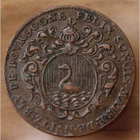 Jeton Etats de Bourgogne 1701 Félix Sonois, élu du tiers-état