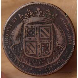 Jeton Etats de Bourgogne 1694. Le prince de Condé et son fils le duc de Bourbon