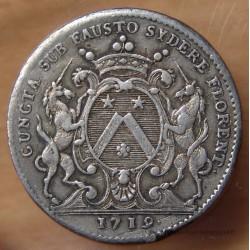 Jeton Bourgogne - Etienne Baudinet Maire de Dijon 1719