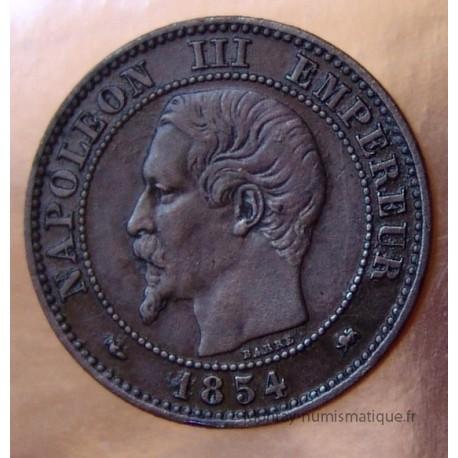 Deux centimes Napoléon III 1854 d petit d lion