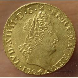 Louis XIV Louis d'or aux insignes 1704 O Riom