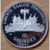 République d'HAITI 10 Gourdes 1971 Stalking Turkey Cherokee proof