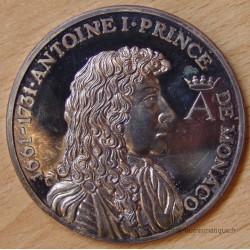 MONACO Médaille Prince Antoine 1er (1661 - 1731) ND ( 1975).