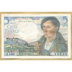 5 Francs Berger 30-10-1947 J.146