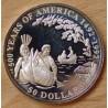Îles Cook 50 dollars 1993 proof 500e anniversaire découverte de l'Amérique