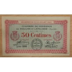 Moulins et Lapalisse (03) 50 centimes 2 juillet 1920 série 339 n°607