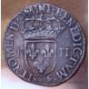 Henri III Quart Ecu croix de face 1588 Rennes