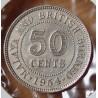 Malaisie et Bornéo Britannique 50 Cents 1954