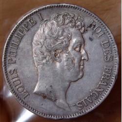 5 Francs Louis Philippe I tête nue 1830 B Rouen
