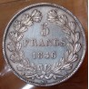 5 Francs Louis Philippe 1846 K Bordeaux , tête laurée