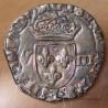 Henri III Huitième d' Ecu croix de face 1587 L Bayonne