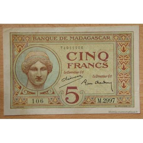 Madagascar - 5 Francs ND (1937)