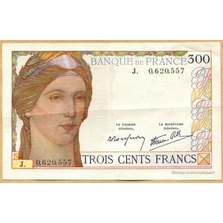 300 Francs 6-10-1938 lettre J