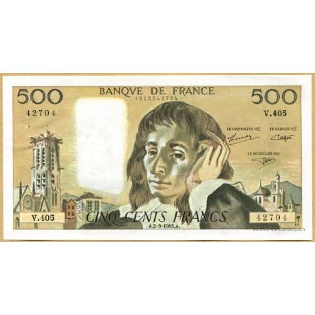 500 Francs Pascal 2-9-1993 V.405