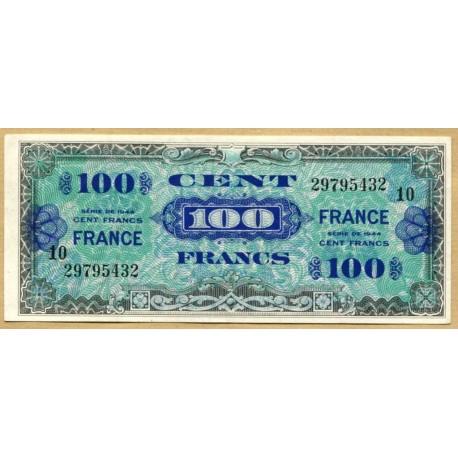 100 Francs Verso France Juin 1945 série 10