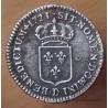 Louis XV 1/12 d'Ecu de France 1721 D Lyon flan neuf