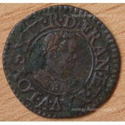 Louis XIII Denier Tournois 1614 A Paris