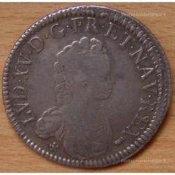Louis XV Ecu Vertugadin 1716 Besançon